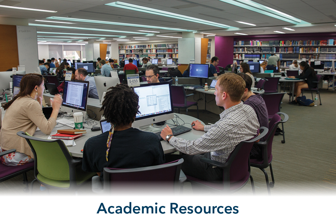 academic resources: interior of gelman library