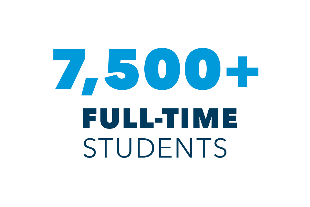 7,500+ full-time students